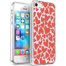iMoshion Design hoesje iPhone 5 / 5s / SE - Hartjes - Rood