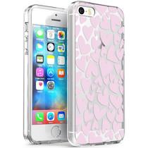 iMoshion Design hoesje iPhone 5 / 5s / SE - Hartjes - Roze