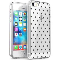 iMoshion Design hoesje iPhone 5 / 5s / SE - Hartjes - Zwart