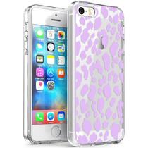 iMoshion Design hoesje iPhone 5 / 5s / SE - Luipaard - Paars