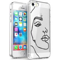 iMoshion Design hoesje iPhone 5 / 5s / SE - Abstract Gezicht - Zwart