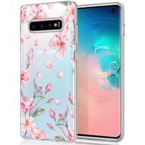 iMoshion Design hoesje Samsung Galaxy S10 - Bloem - Roze