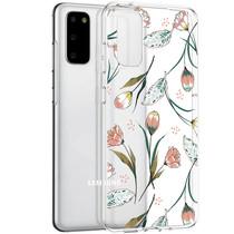 iMoshion Design hoesje Samsung Galaxy S20 - Bloem - Roze / Groen