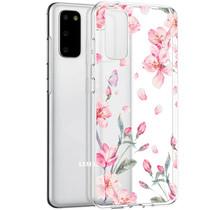 iMoshion Design hoesje Samsung Galaxy S20 - Bloem - Roze
