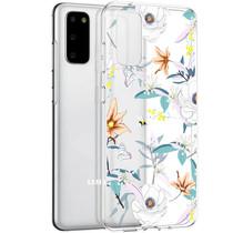 iMoshion Design hoesje Samsung Galaxy S20 - Bloem - Wit