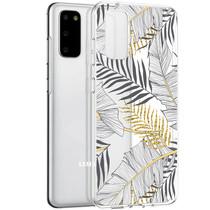 iMoshion Design hoesje Samsung Galaxy S20 - Bladeren - Zwart / Goud