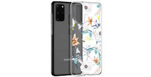 iMoshion Design hoesje Samsung Galaxy S20 Plus - Bloem - Wit