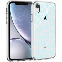 iMoshion Design hoesje iPhone Xr - Luipaard - Blauw