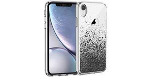 iMoshion Design hoesje iPhone Xr - Spetters - Zwart
