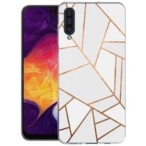 iMoshion Design hoesje Galaxy A50 / A30s - Grafisch Koper - Wit