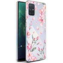 iMoshion Design hoesje Samsung Galaxy A71 - Bloem - Roze