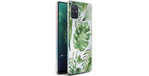 iMoshion Design hoesje Samsung Galaxy A71 - Bladeren - Groen