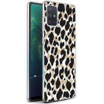 iMoshion Design hoesje Samsung Galaxy A71 - Luipaard - Goud / Zwart