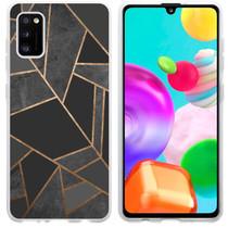 iMoshion Design hoesje Galaxy A41 - Grafisch Koper - Zwart / Goud