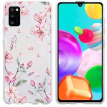 iMoshion Design hoesje Samsung Galaxy A41 - Bloem - Roze
