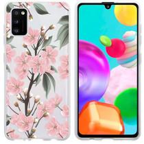 iMoshion Design hoesje Samsung Galaxy A41 - Bloem - Roze / Groen