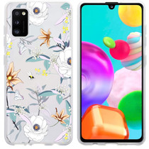 iMoshion Design hoesje Samsung Galaxy A41 - Bloem - Wit