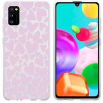iMoshion Design hoesje Samsung Galaxy A41 - Hartjes - Roze