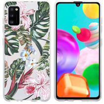 iMoshion Design hoesje Samsung Galaxy A41 - Jungle - Groen / Roze