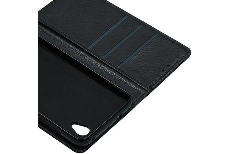Alcatel 1 hoesje - Basic Litchi Booktype voor