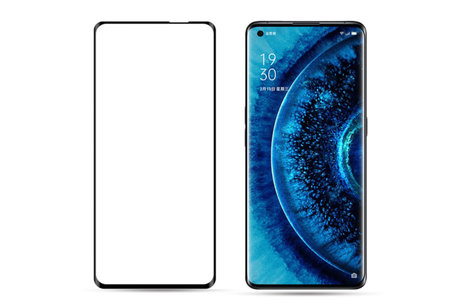 Selencia Gehard Glas Premium Screenprotector voor de Oppo Find X2 / X2 Pro - Zwart