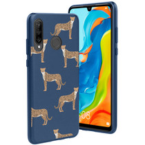 iMoshion Design hoesje Huawei P30 Lite - Luipaard - Blauw