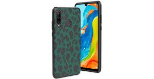 iMoshion Design hoesje Huawei P30 Lite - Luipaard - Groen / Zwart