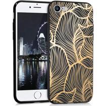 iMoshion Design hoesje iPhone SE (2020) / 8 / 7 - Bladeren - Goud