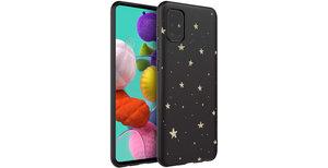 iMoshion Design hoesje Samsung Galaxy A51 - Sterren - Zwart / Goud