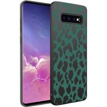 iMoshion Design hoesje Samsung Galaxy S10 - Luipaard - Groen / Zwart