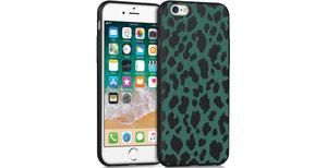 iMoshion Design hoesje iPhone 6 / 6s - Luipaard - Groen / Zwart