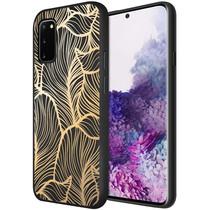 iMoshion Design hoesje Samsung Galaxy S20 - Bladeren - Goud / Zwart