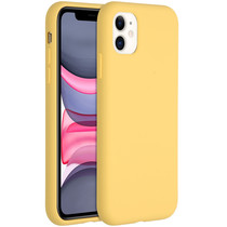 Accezz Liquid Silicone Backcover iPhone 11 - Yellow