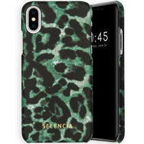 Selencia Maya Fashion Backcover iPhone Xs / X - Green Panther