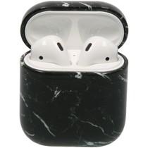 iMoshion Hardcover Case AirPods - Zwart Marmer
