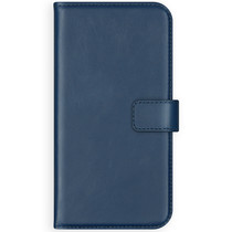 Selencia Echt Lederen Booktype Samsung Galaxy S20 Plus - Blauw