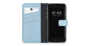Selencia Echt Lederen Booktype iPhone SE (2020) / 8 / 7 / 6(s)
