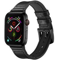 iMoshion Echt lederen bandje Apple Watch 38/40mm - Zwart
