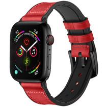 iMoshion Echt lederen bandje Apple Watch 42/44mm - Rood