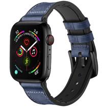 iMoshion Echt lederen bandje Apple Watch 42/44mm - Blauw