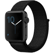 iMoshion Nylon bandje Apple Watch Serie 1/2/3/4/5 38/40mm - Zwart