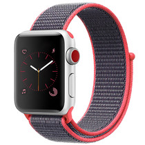 iMoshion Nylon bandje Apple Watch Serie 1/2/3/4/5 38/40mm - Roze