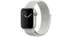 iMoshion Nylon bandje Apple Watch Serie 1/2/3/4/5 42/44mm - Wit
