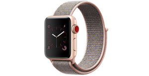 iMoshion Nylon bandje Apple Watch Serie 1/2/3/4/5 42/44mm - Rosé Goud