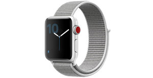 iMoshion Nylon bandje Apple Watch Serie 1/2/3/4/5 42/44mm - Grijs