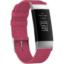 iMoshion Nylon bandje Fitbit Charge 3 / 4 - Roze