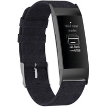 iMoshion Nylon bandje Fitbit Charge 3 / 4 - Zwart