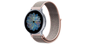 iMoshion Nylon bandje Galaxy Watch 40/42mm / Active 2 42/44mm - Roze