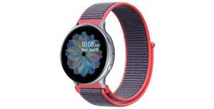iMoshion Nylon bandje Galaxy Watch 40/42mm / Active 2 42/44mm - Rood