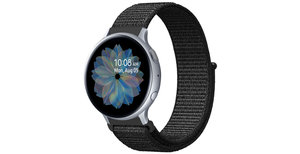 iMoshion Nylon bandje Galaxy Watch 40/42mm / Active 2 42/44mm - Zwart